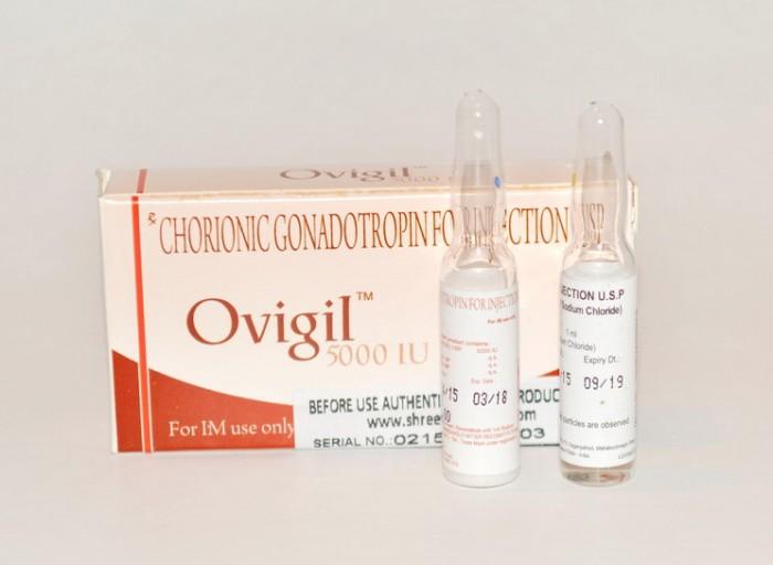 Ovigil 5000IU (Гонадотропин) - цена за одну упаковку.